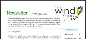 WIND Newsletter Winter 2012-3