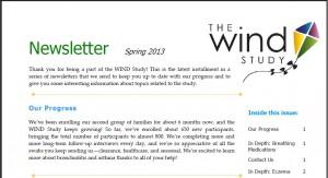 WIND Newsletter Spring 2013
