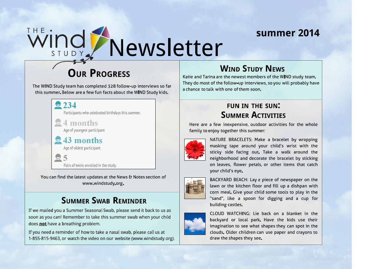 WIND Newsletter Summer 2014